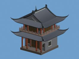 Traditional Korean Architecture 3d preview