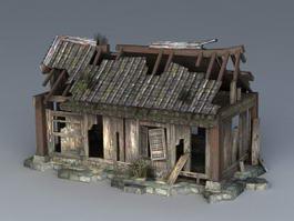 Broken House 3d model preview