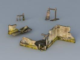 Broken Wall 3d preview