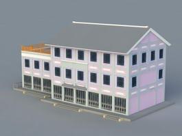Architecture CG Representation 3d model preview