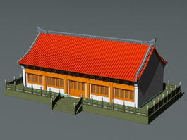 Ancient Asian Architecture 3d model preview