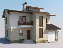 Simple Modern House 3d preview