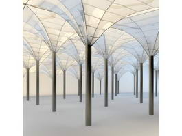 Glass Roof System 3d preview