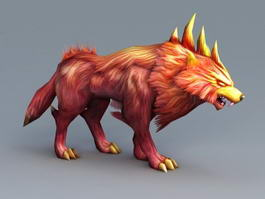 Anime Dog Demon 3d preview