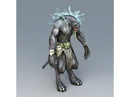 Humanoid Panther 3d model preview