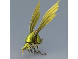 Flying Beetle Monster 3d model preview