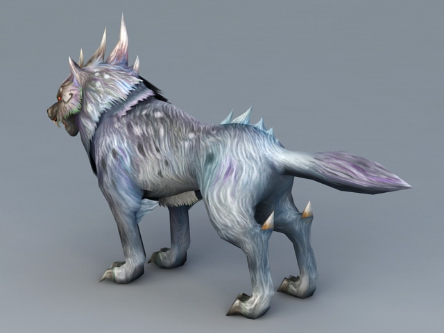 Magic Wolf 3d rendering