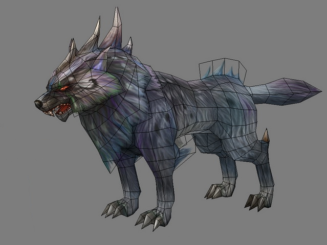 Magic Wolf 3d rendering