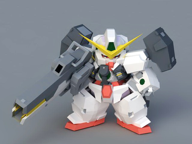 GN-005 Gundam Virtue 3d rendering