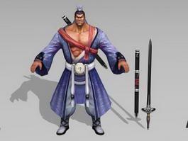 Male Swordsman 3d model preview