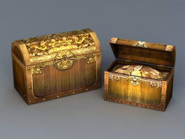 Gold Treasure Chest 3d preview