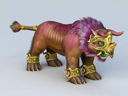 Chinese Guardian Lion 3d model preview