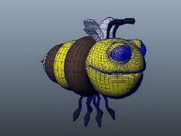 Cartoon Honey Bee 3d model preview