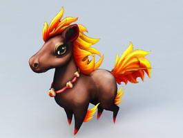 Cartoon Pony Horse 3d model preview