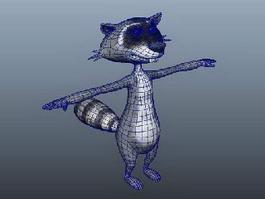 Raccoon Cartoon Character 3d preview