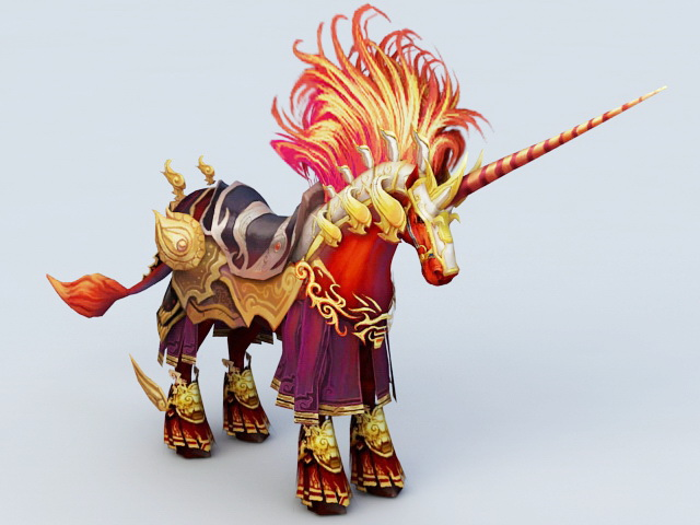 Unicorn Mount 3d rendering