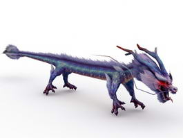 Azure Chinese Dragon 3d preview