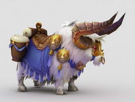 Anime Cattle Mount 3d model preview