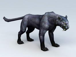 Black Panther Animal 3d model preview