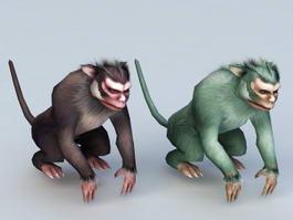 Gorilla Monkey 3d model preview