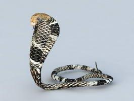King Cobra Snake 3d model preview