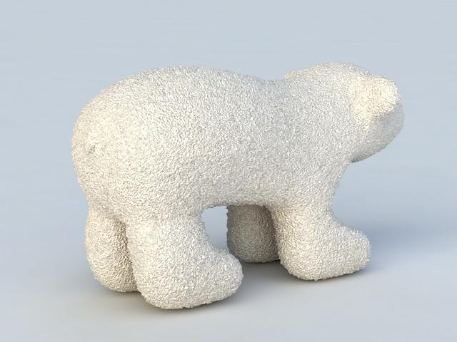 Polar Bear Toy 3d rendering