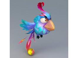 Blue Bird Cartoon 3d model preview