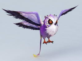 Anime Owl 3d preview