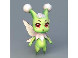 Green Spirit Beast 3d model preview