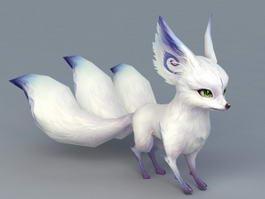 White Fox Spirit Animal 3d preview