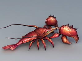 Lobster Monster 3d preview