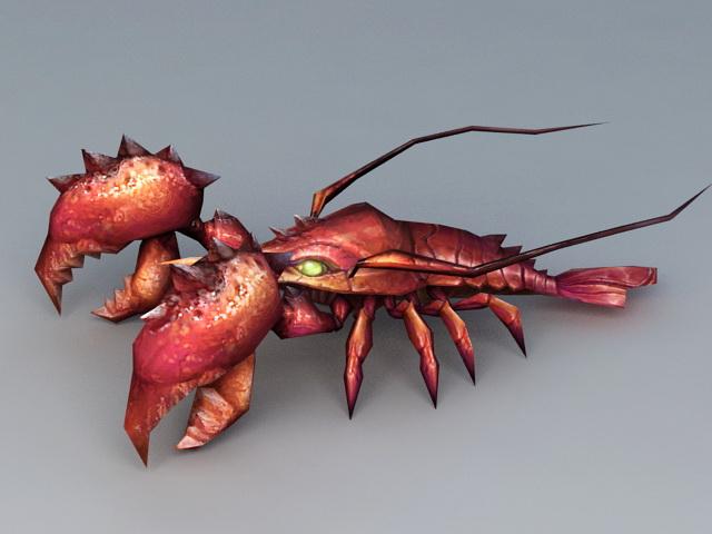 Lobster Monster 3d rendering