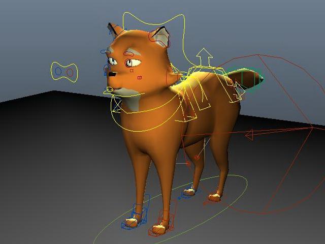 Anime Fox Animal 3d rendering