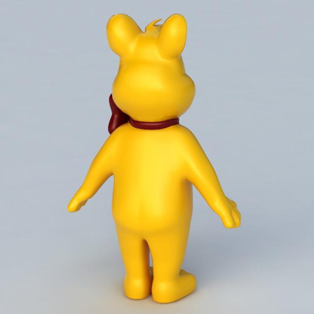 Haribo Bear 3d rendering