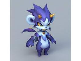 Blue Devil Cartoon 3d model preview