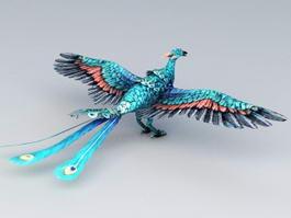 Blue Phoenix 3d model preview