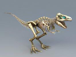 Skeletal Dinosaur 3d preview