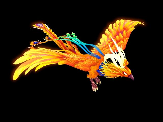 Animated Phoenix 3d rendering