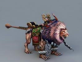Lion Mount 3d preview