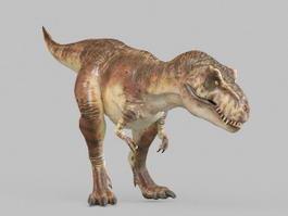 Giganotosaurus dinosaur 3d model preview