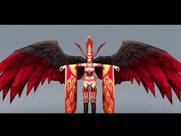 Beautiful Warrior Angel 3d preview