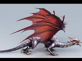 Drake Dragon Creature 3d model preview