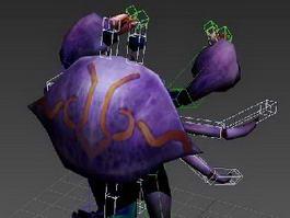 Purple Crab Cartoon 3d preview