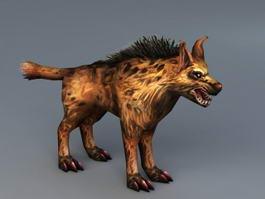 African Wild Dog 3d model preview