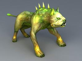 Zombie Dog 3d model preview