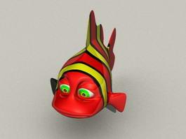 Clown Fish Nemo 3d preview