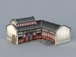 Ancient Chinese Medical Clinic 3d model preview