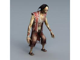 Biped Zombie 3d preview