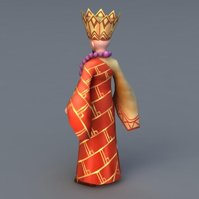 Shaolin Monk Master 3d rendering