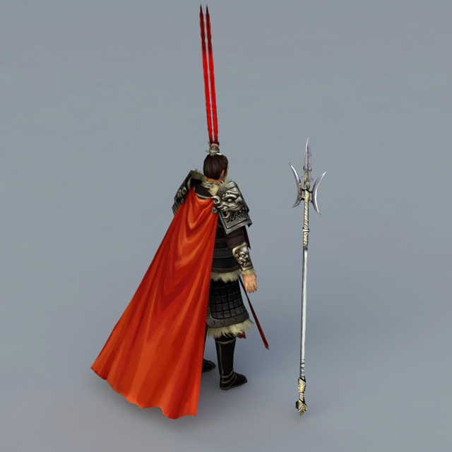 Ancient Chinese Warlord 3d rendering